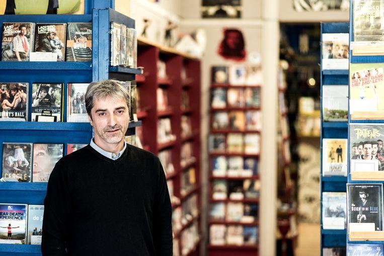 Juan Barbolla, uitbater van de videotheek Video Express, Sint Gillis. Beeld Tine Schoemaker