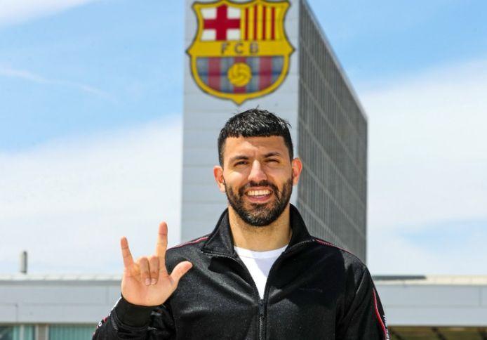 Agüero bij FC Barcelona.