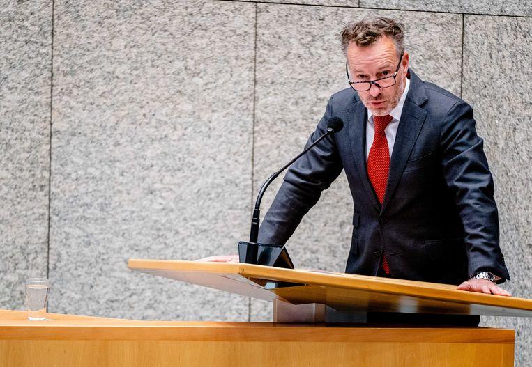 Wybren van Haga tijdens een debat in de Tweede Kamer. Beeld ANP