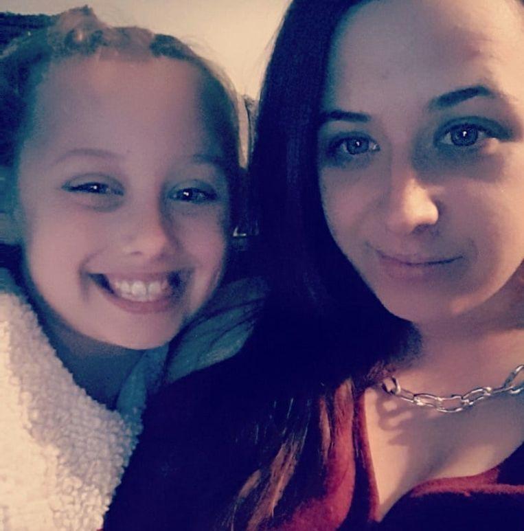 Kirsten en haar dochter Madisson.