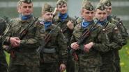 Herdenkingsplechtigheid met 90 Poolse militairen op de markt op 22 augustus