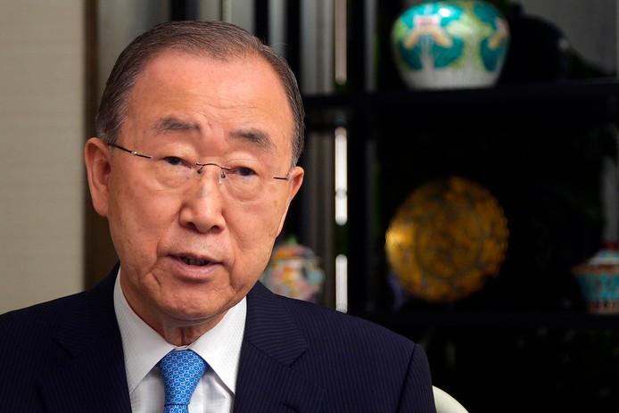 L'ex-secrétaire général de l'ONU Ban Ki-moon le 7 septembre 2019