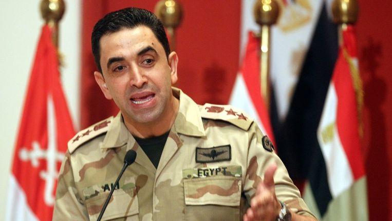 Militair woordvoerder Ahmed Ali. Beeld EPA