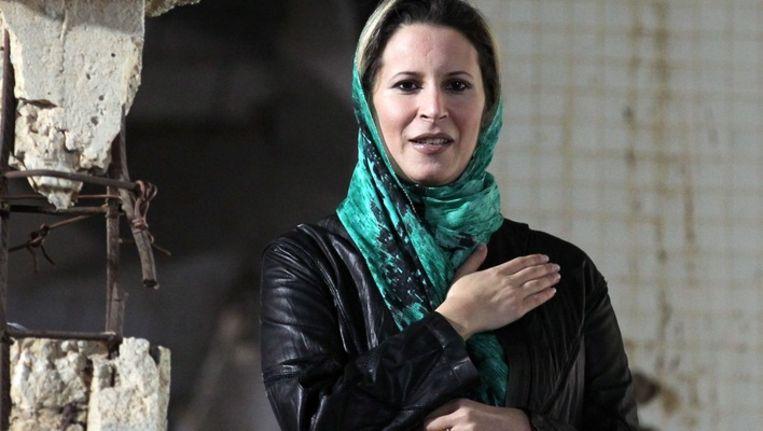 Aisha Kaddafi in Tripoli Beeld epa