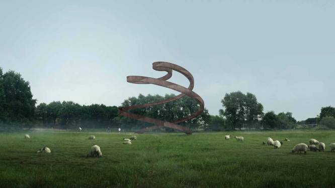 Uitkijktoren 'Lus in het Landschap' van de baan. Alternatief in Moerenburg: 'De Nieuwe Herdgang'