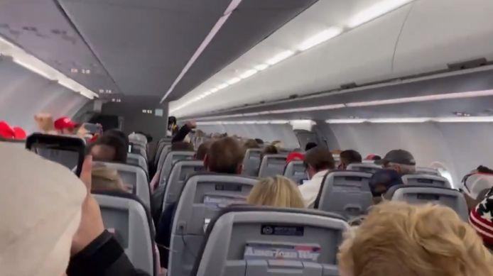 De passagiers lieten op duidelijke manier verstaan van wie ze fan waren.