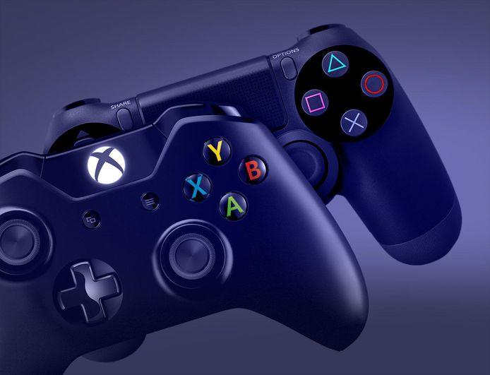 Controllers van een spelcomputers. Foto ter illustratie.