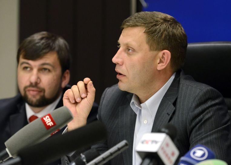 Gekozen leider van de Volksrepubliek Donetsk Aleksandr Zachartsjenko. Beeld afp