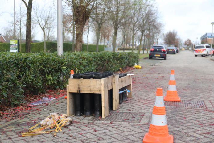 Zwaar vuurwerk zorgt voor flinke explosie in Etten-Leur.