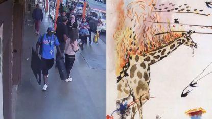 Dief wandelt zomaar buiten met kunstwerk van Salvador Dalí onder de arm