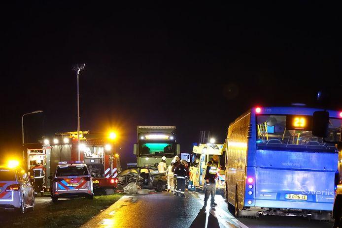 De hulpdiensten zijn uitgerukt voor een ongeval op de N377 bij De Krim
