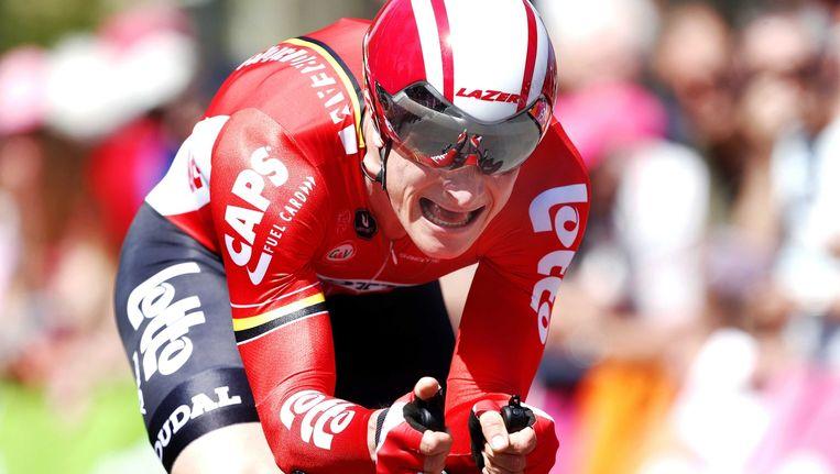 Greipel tijdens de eerste etappe van de Giro. Beeld epa