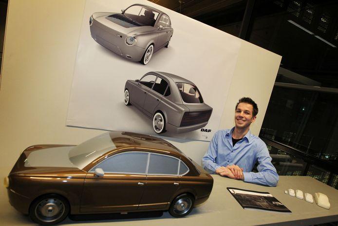 Martijn Lemmens is afgestudeerd aan de Design Academy met een ontwerp voor een nieuwe DAF. Foto Irene Wouters