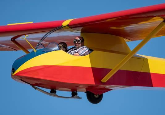 Zweefvliegen met piloot Willem den Baars.