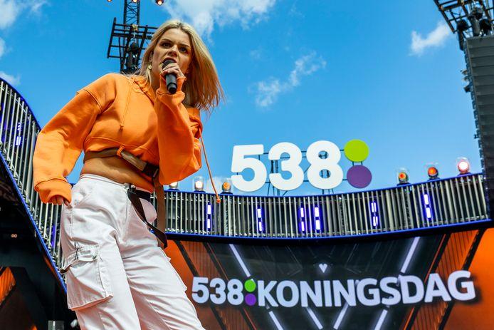 Davina Michelle vorig jaar op 538 Koningsdag