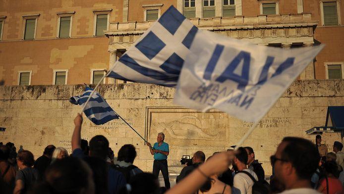 Demonstranten in Griekenland