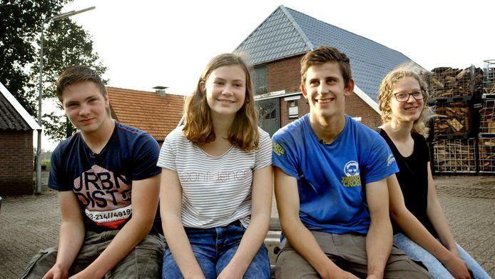 Thomas, Femke, Marc en Lian uit Espelo.
