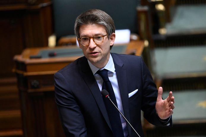 Pierre-Yves Dermagne, le ministre fédéral de l'Economie et du Travail (PS).