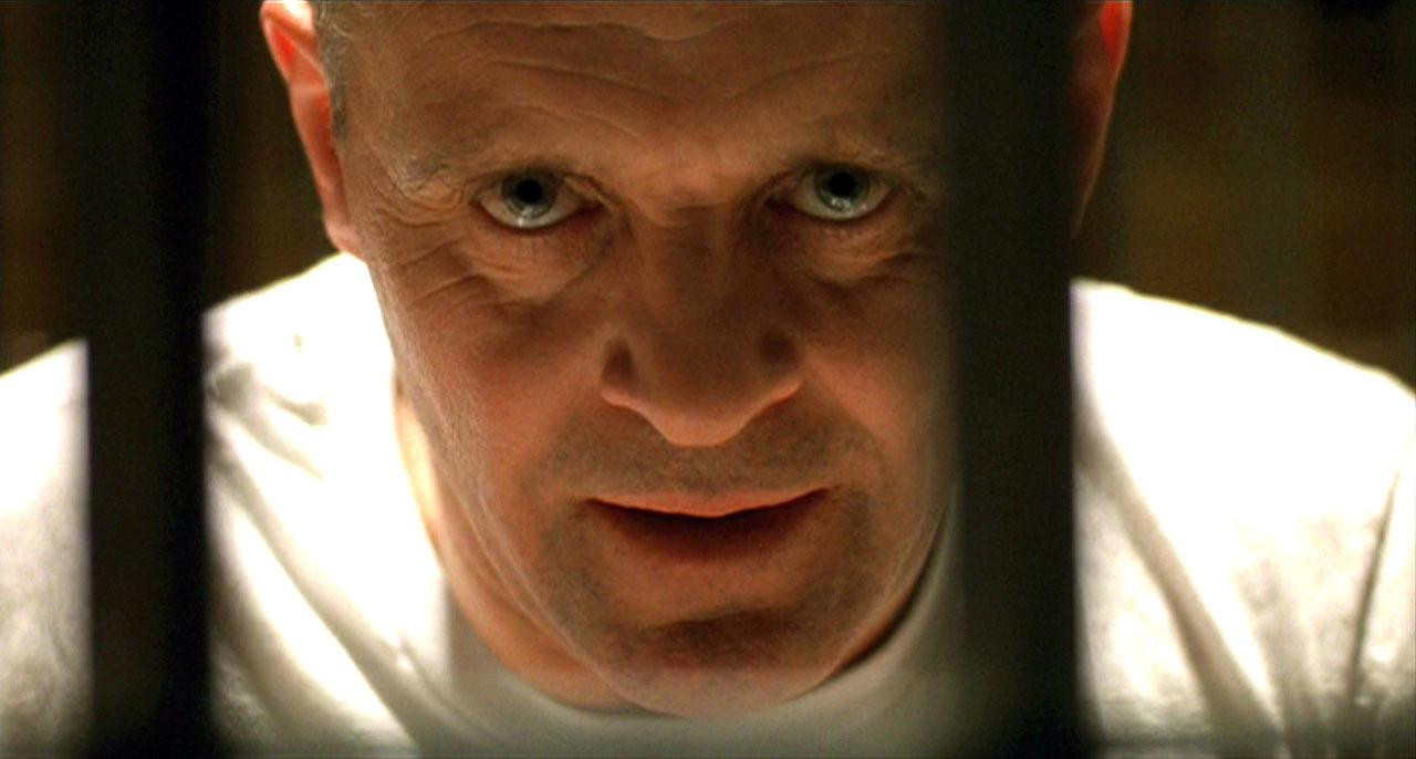 Hannibal Lector in 'Silence of the Lambs'.