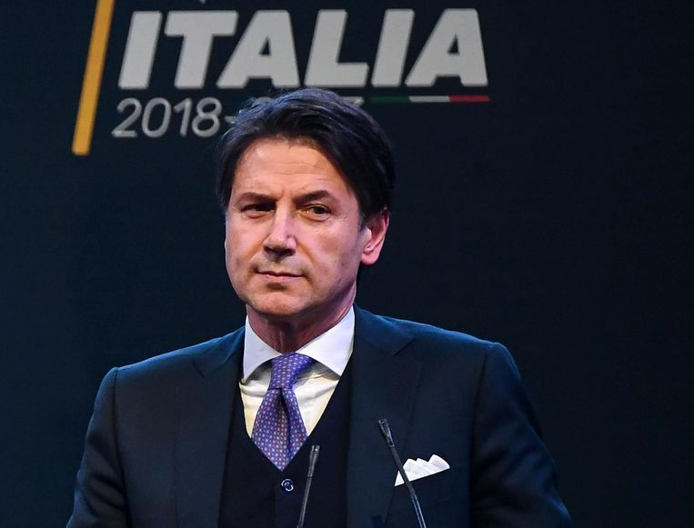 De nieuwe Italiaanse premier, Giuseppe Conte. Beeld AFP