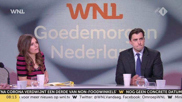 Han Lips keek Goedemorgen Nederland (WNL) waar Thierry Baudet te gast was. Beeld NPO