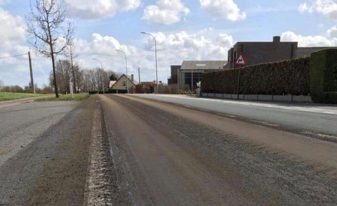 De Wingensesteenweg in Tielt.