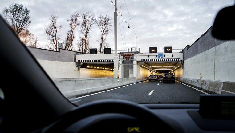 Verkeer kon maandag weer door de Velsertunnel rijden Beeld anp