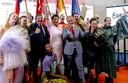 De delegatie van Maastricht tijdens de feestelijke presentatie afgelopen juli van het 'bidbook',  waarin de Limburgse plannen stonden.