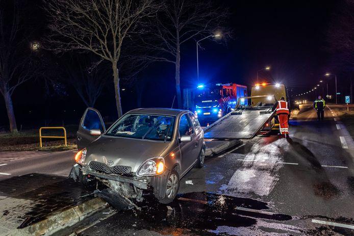 Ongeluk op de Rillaersebaan in Riel.