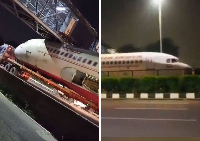 Un avion d'Air India s'est retrouvé coincé sous une passerelle à Delhi, en Inde.