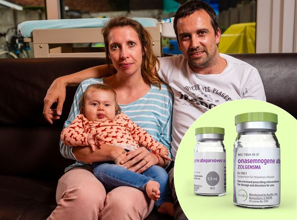Baby Pia kreeg vorige week het middel Zolgensma toegediend.