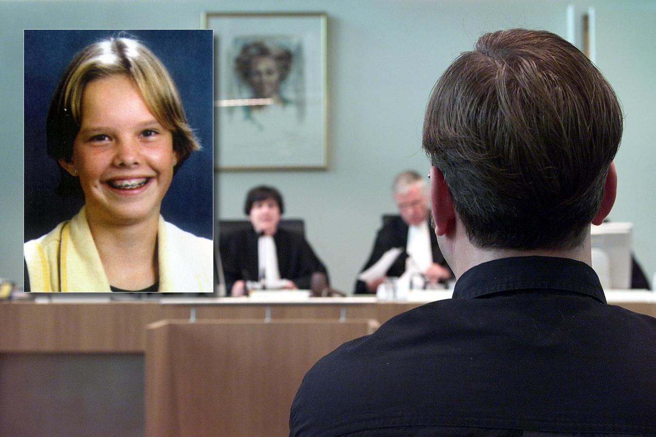 Martin C. bij zijn veroordeling voor de moord op Sybine Jansons in 2001.