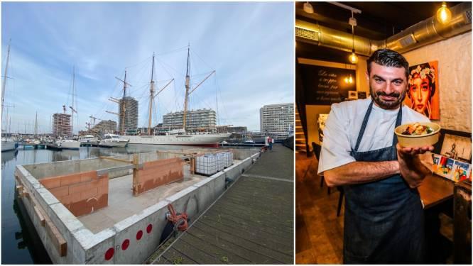 Dit is geen boot, maar een écht drijvend restaurant: Resto Vito herrijst naast Mercator in Oostendse jachthaven