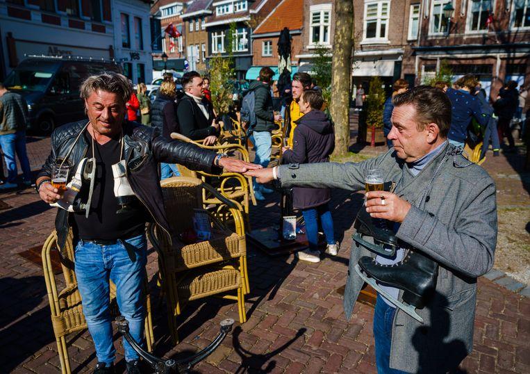 Terrassen in Breda gingen uit protest vorige maand al kort open. Beeld ANP