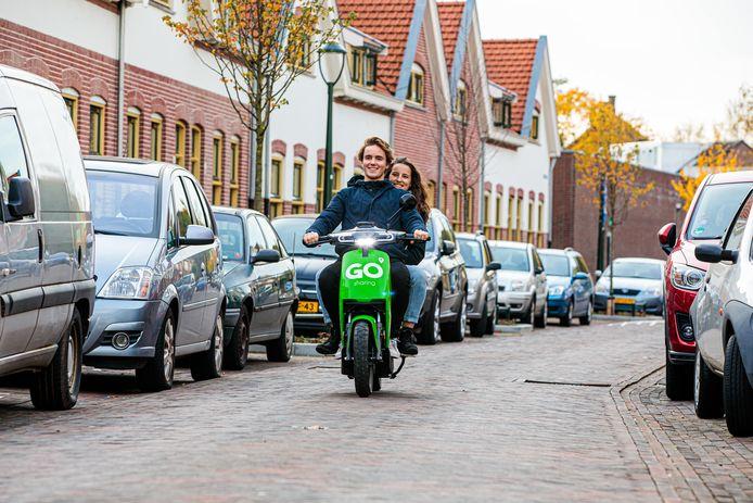 Een e-scooter van Go Sharing.