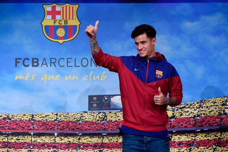 Philippe Coutinho maakte op de vooravond van zijn officiële voorstelling al even zijn intrede in Camp Nou.