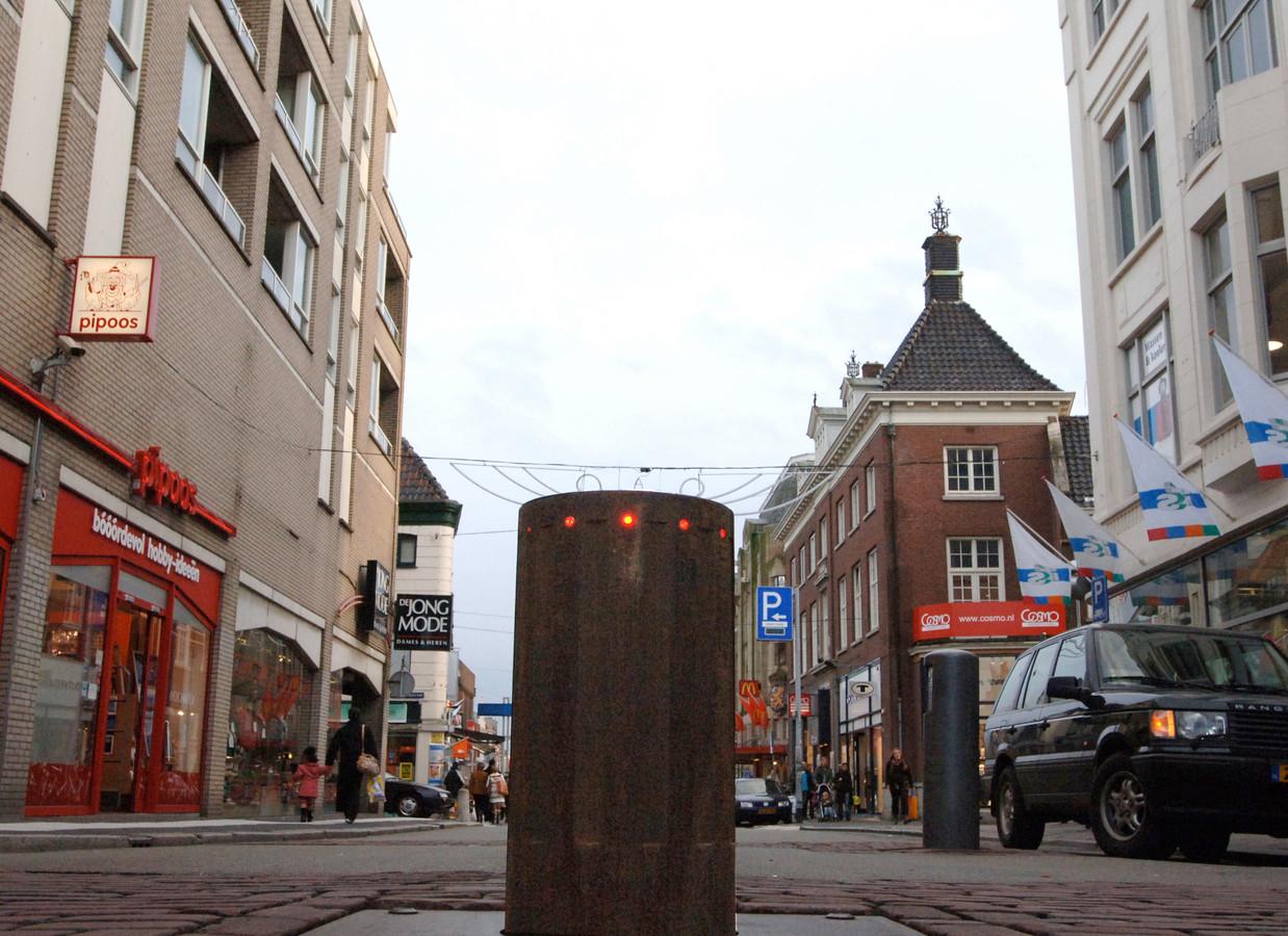 De poller in de Visstraat in Dordrecht.