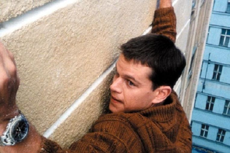 Matt Damon in The Bourne Identity. Beeld
