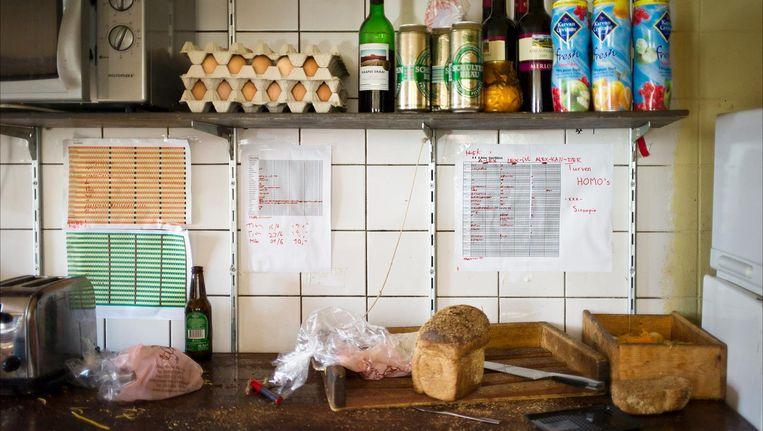 De keuken van een studentenhuis in Delft. Beeld ANP