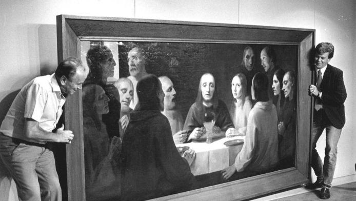 Het Laatste Avondmaal van schilder Han van Meegeren, Dit doek werd lange tijd verloren gewaand, maar dook in 1984 weer op.