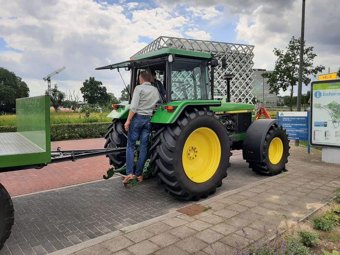 De eerste trekker bij de universiteit van Wageningen.