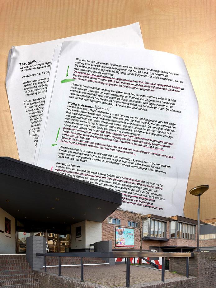 Het rapport van organisatiedeskundige Hans Kraaijeveld over Theater de Speeldoos deed de afgelopen week veel stof opwaaien in Vught.