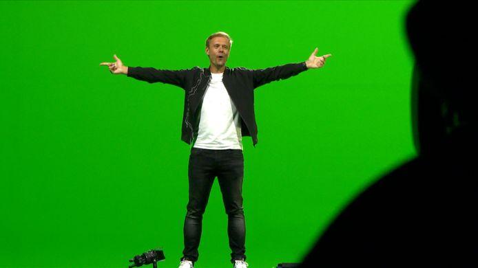 Armin van Buuren tijdens de opnames van de virtuele editie van Tomorrowland.