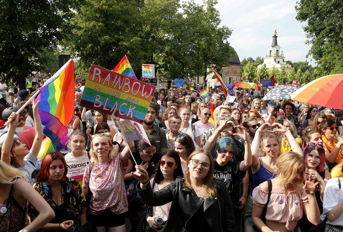 De eerste Gay Pride in Polen in 2019.