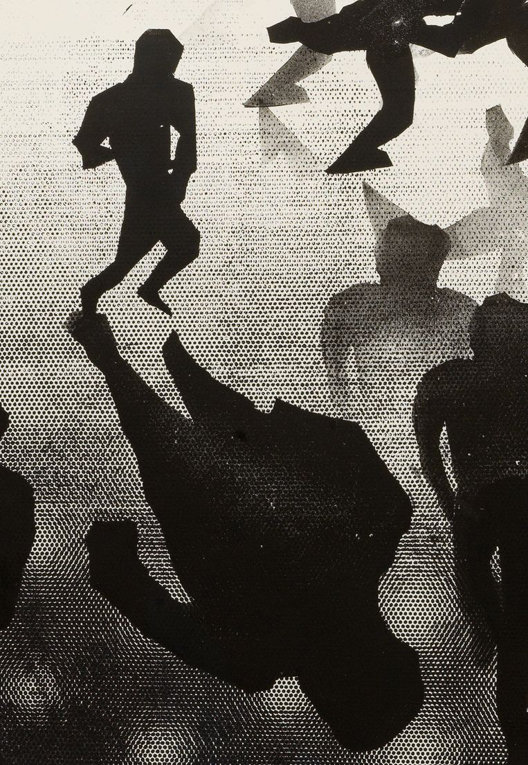 Matthew Monahan, Untitled (detail), 2020, inkt op papier Beeld Galerie Fons Welters