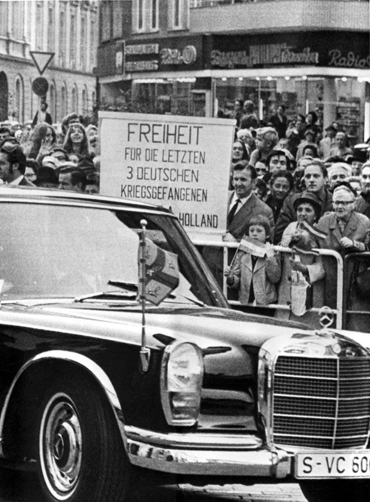 Een betoging voor de vrijlating van de Drie van Breda in 1971. Beeld Nationaal Archief/Collectie Spaarnestad/ANP