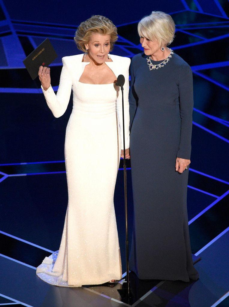 Jane Fonda en Helen Mirren Beeld ap