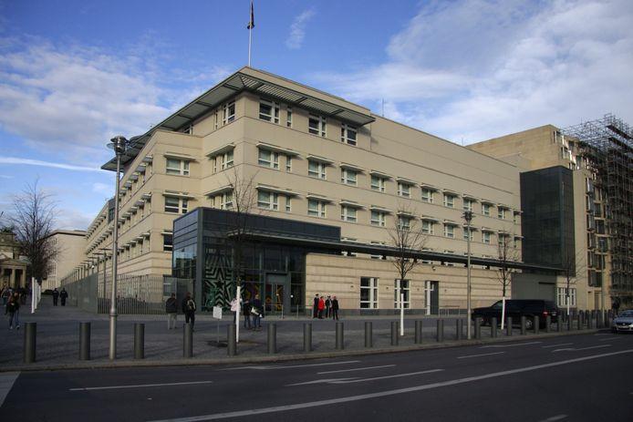 De Amerikaanse ambassade in Berlijn.