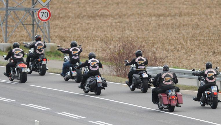 Leden van motorclub Hells Angels in Duitsland. Beeld null