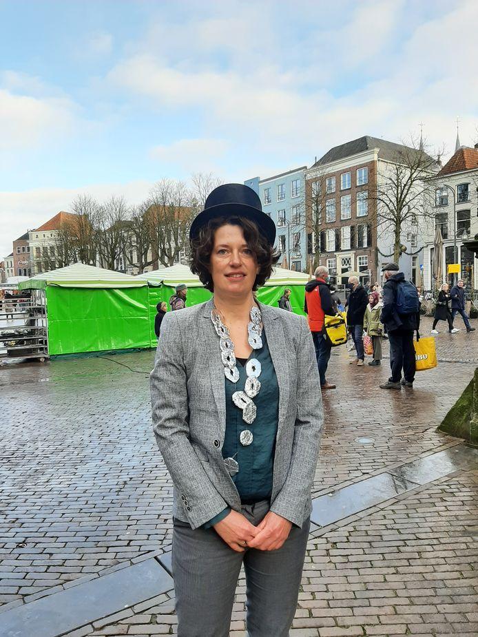 'Noodburgemeester' Inge van der Weijden na haar nieuwjaarstoespraak.
